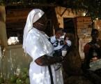 Visite de l'école et du dispensaire tenus par la congrégation, à Mbodiène au Sénégal