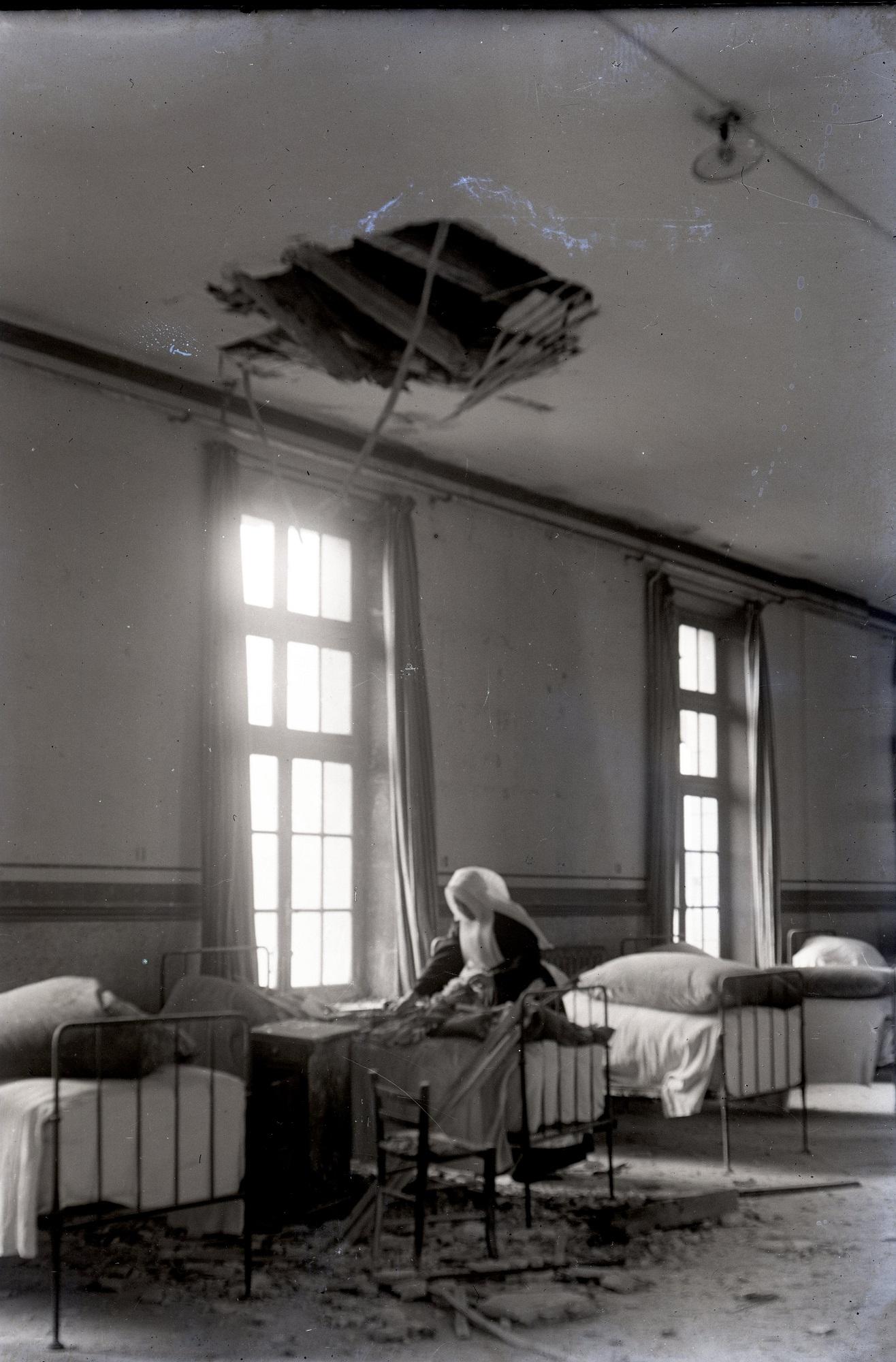 Bombardement sur l'Hôpital de Soissons