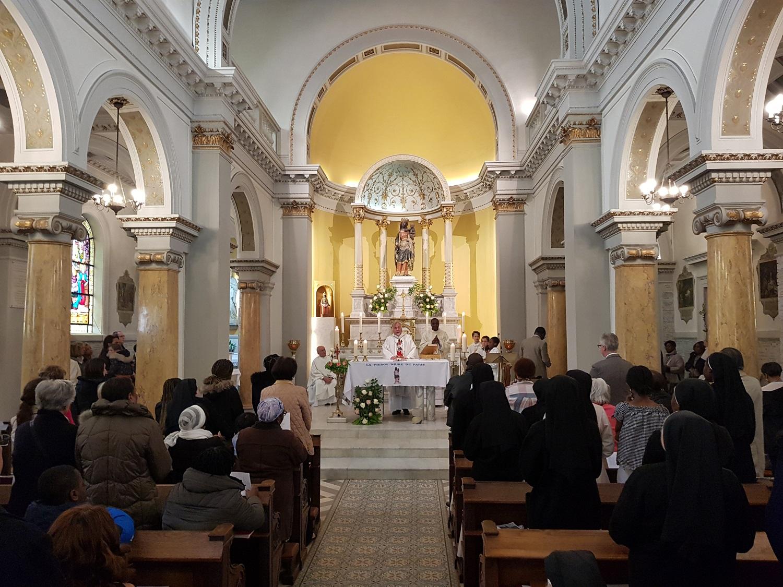 Messe d'installation célébrée par Mgr Aybram