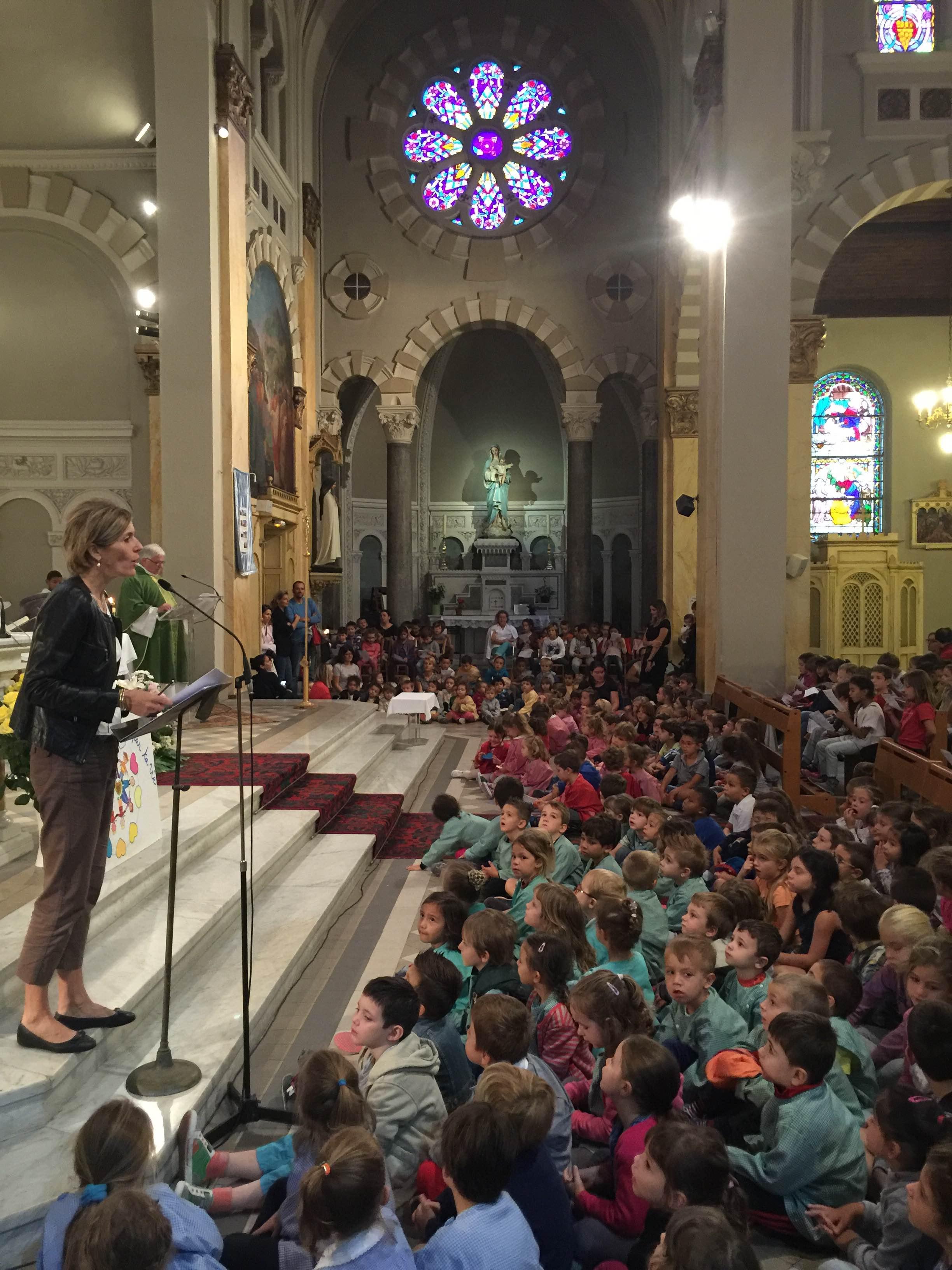 Messe de rentrée, à l'église paroissiale
